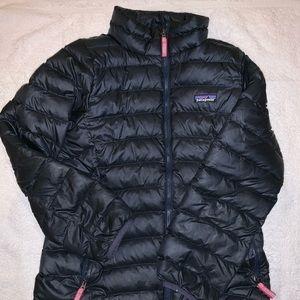Patagonia girls navy and magenta winter jacket